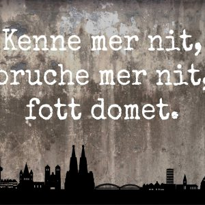 Kenne mer nit… – taupe